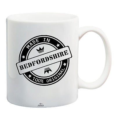 Juko Made In Bedfordshire Mug 100% Original Coffee Cup Gift Idea