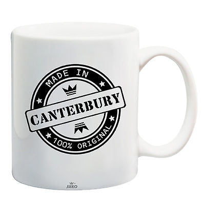 Juko Made In Canterbury Mug 100% Original Coffee Cup Gift Idea
