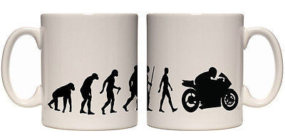 Juko Evolution Ape To Man Motorbike Evo Tea Coffee Cup