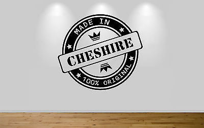 Juko Made In Cheshire Wall Sticker 100% Original Decal