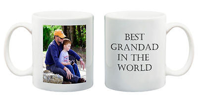 Best Grandad in the World mug customised present your photo birthday gift