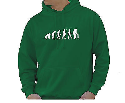 Adult Unisex Kids Evolution Hoodie Ape To Man Evo Cricket Hoody