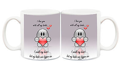 Juko I Love You With All My Boobs Funny Mug For Boyfriend