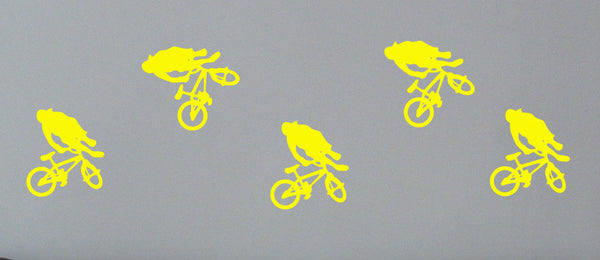 5 boys bedroom bmx wall sticker decal bike wall art - Juko