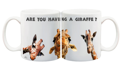 Juko Are You Having A Giraffe Funny Mug - Juko