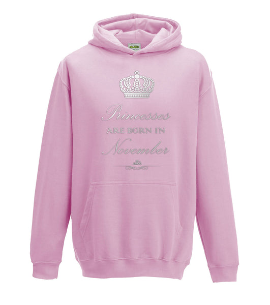 Juko Princesses Are Born In November Hoodie Girls Princess Hoody