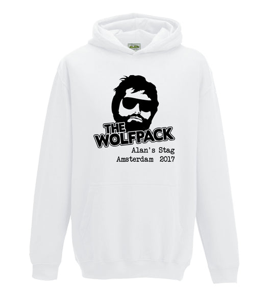 Wolfpack Stag Do Personalised Hoodie Hangover Custom Design