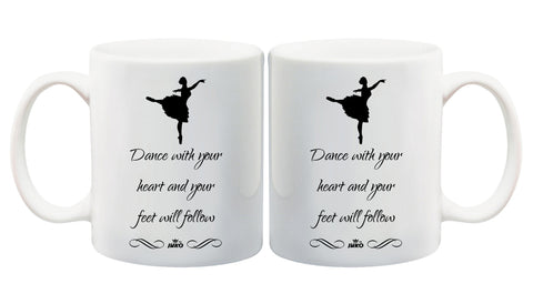 Juko Dance With Your Heart and Your Feet Will Follow Mug 1287 - Juko