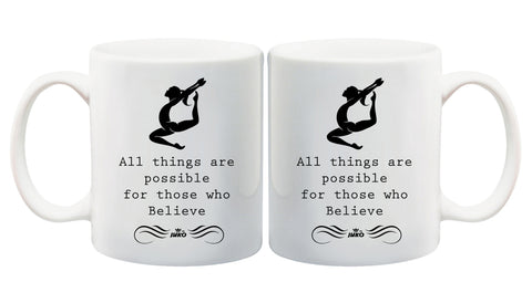 Juko All Things Are Possible Mug 1291 Dancer Gift Coffee Tea Cup