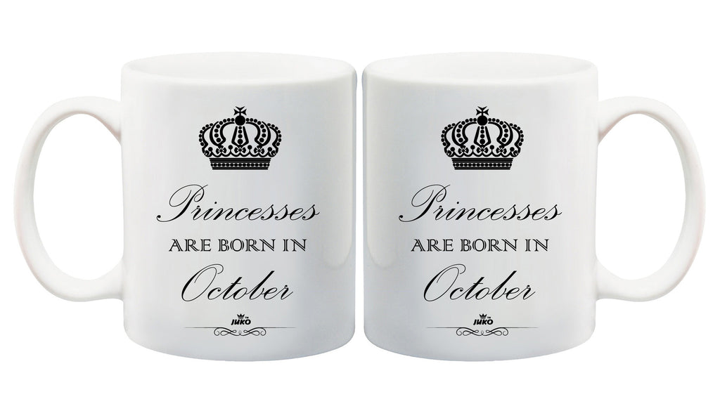 Juko Princesses Are Born In October Mug 1302 Princess Coffee Tea Cup