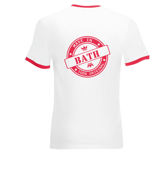 Juko Made In Bath Contrast Ringer T Shirt Retro Style T.