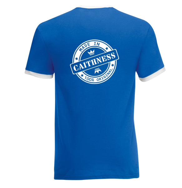 Juko Made In Caithness Contrast Ringer T Shirt Retro Style T.