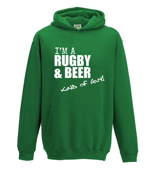 Juko I'm A Rugby And Beer Kind Of Guy Hoodie