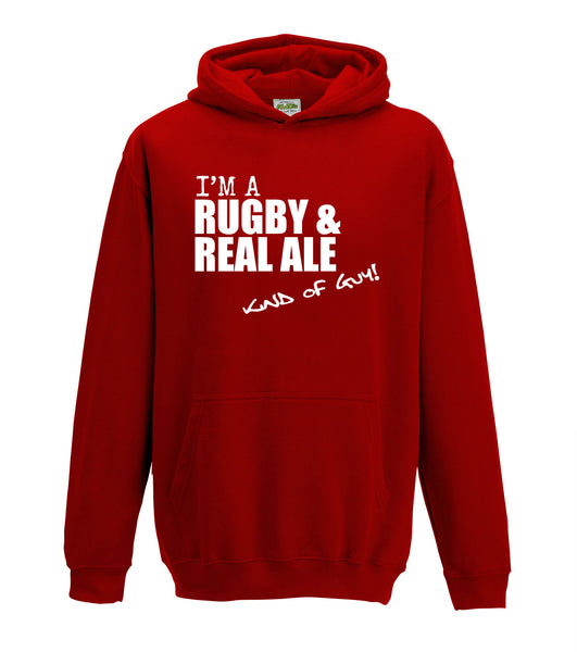 Juko I'm A Rugby And Real Ale Kind Of Guy Hoodie - Juko