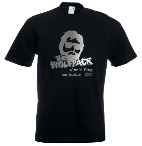 Wolfpack Stag Do Personalised T Shirt Hangover Custom Design