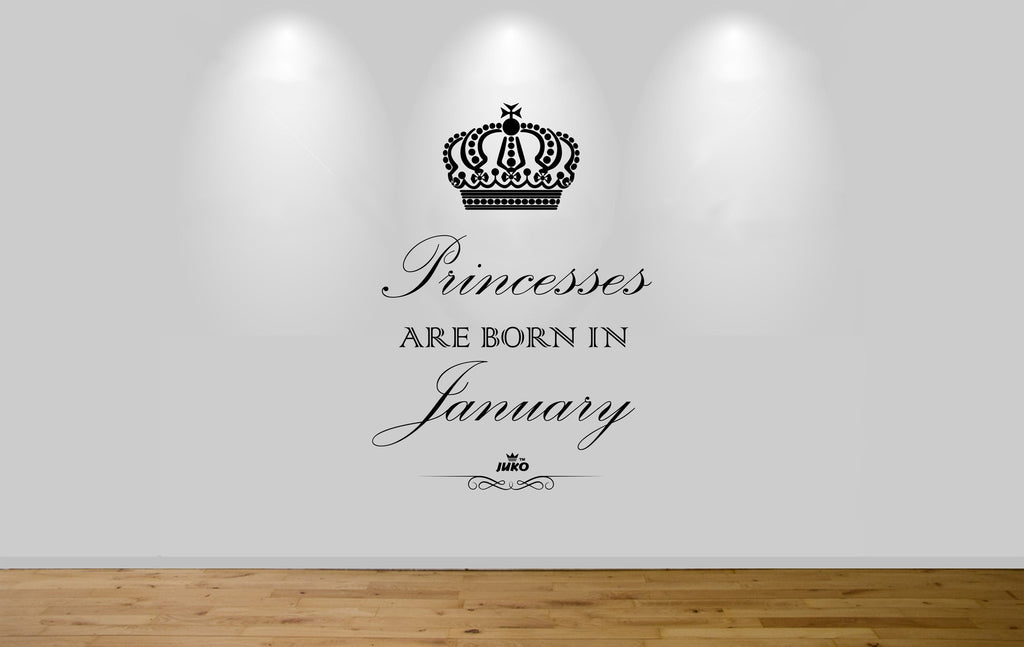Juko Princesses Are Born In January Wall Sticker 1293 Princess Decal Wall Art Mural