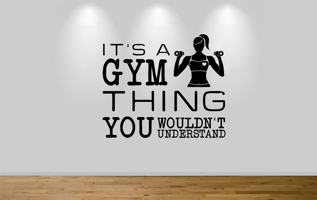 Juko It's a Gym Thing Wall Sticker Decal - Juko
