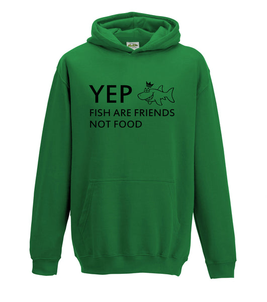 Juko Kids Yep Fish Are Friends Not Food Hoodie Funny Hoody - Juko