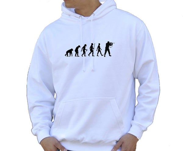 Adult Unisex Kids Evolution Hoodie Ape To Man Evo Soldier Hoody - Juko