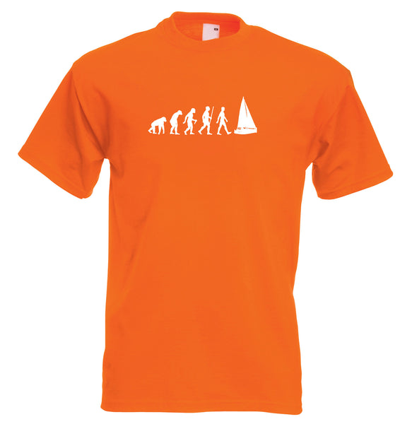 Mens evolution t shirt ape to man evolution sailing evolution t shirt