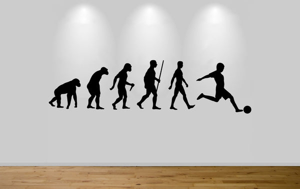 Football Evolution Wall Sticker Decal Bedroom Wall Footballer Evolution