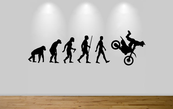 Moto Cross Evolution Wall Sticker Decal Bedroom Wall Dirt Bike Evolution
