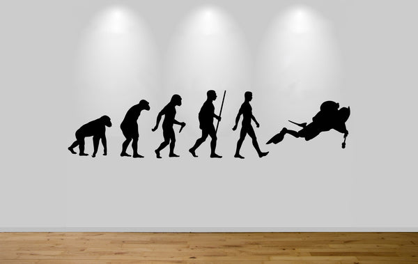 Scuba Diver Evolution Wall Sticker Decal Bedroom Art Diving Evo Ape to Man