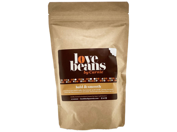 12oz Bag of Whole Bean Love Beans by Carnie Coffee®