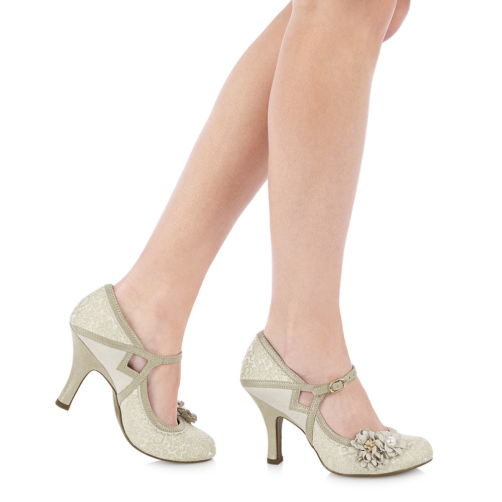 YASMIN 09088 RUBY SHOO-Ladies-RUBY SHOO-CREAM-36 = 3 UK-Logues Shoes