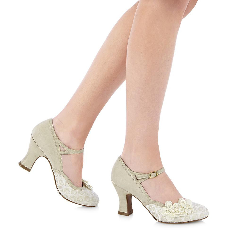 AMELIA 09089 RUBY SHOO-Ladies-RUBY SHOO-CREAM-36 = 3 UK-Logues Shoes