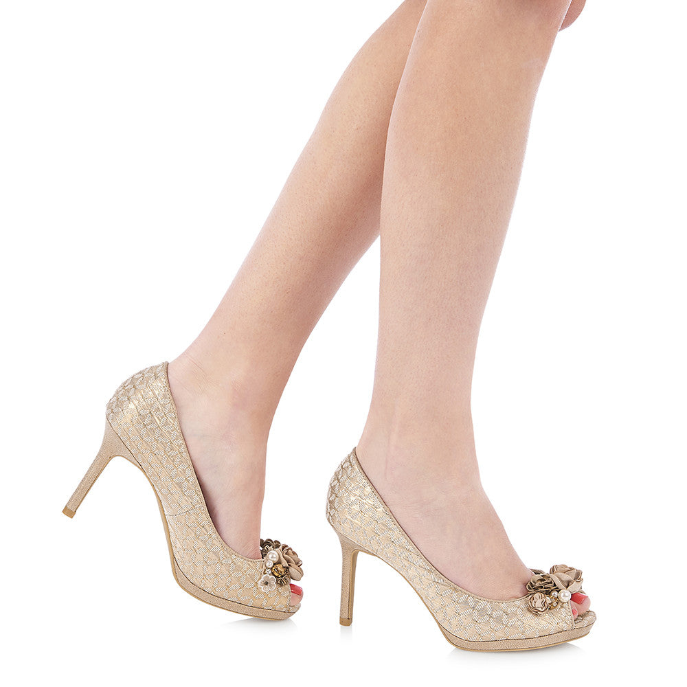 SONIA 09092 RUBY SHOO-Ladies-RUBY SHOO-ROSE GOLD-36 = 3 UK-Logues Shoes