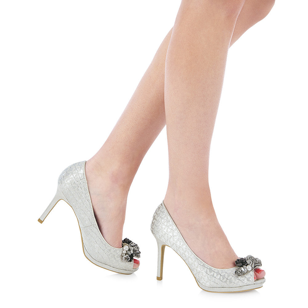 SONIA 09092 RUBY SHOO-Ladies-RUBY SHOO-SILVER-36 = 3 UK-Logues Shoes