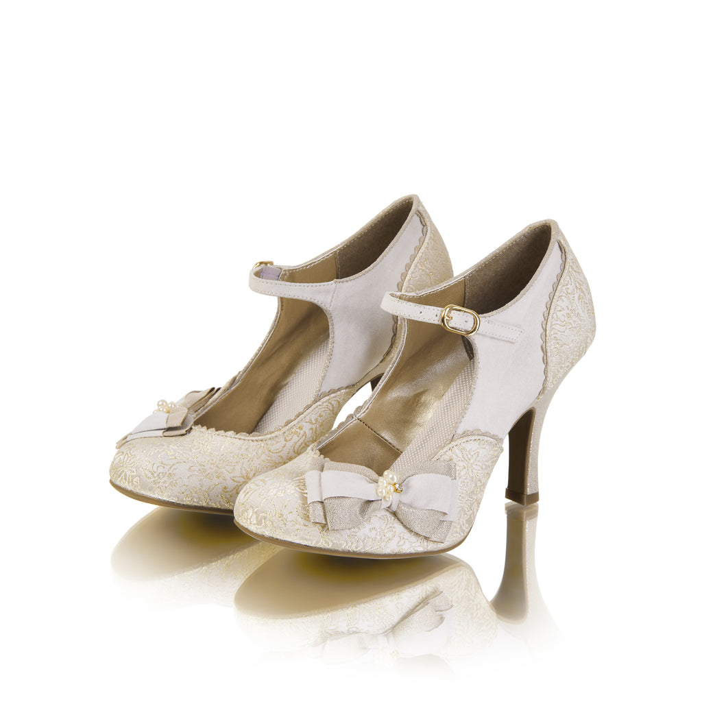 MARIA 09155 RUBY SHOO-Ladies-RUBY SHOO-CREAM /GOLD-36 = 3 UK-Logues Shoes
