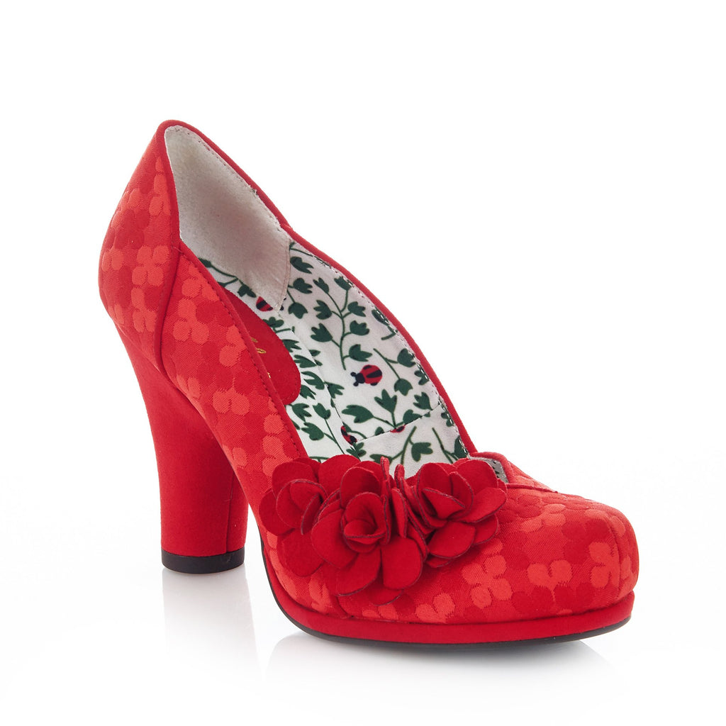 CHARLOTTE 09179 RUBY SHOOLadiesLogues ShoesRED / 42 = 8 UK