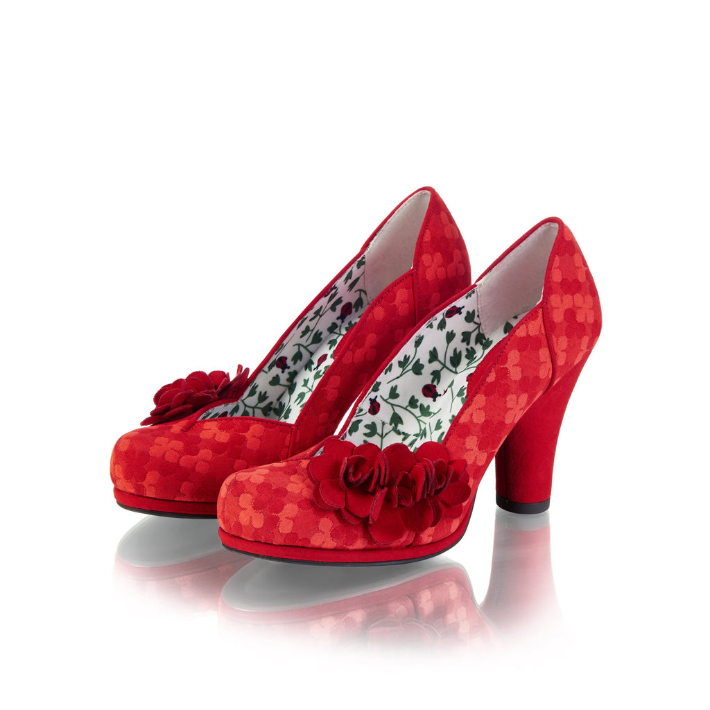 CHARLOTTE 09179 RUBY SHOO-Ladies-RUBY SHOO-RED-36 = 3 UK-Logues Shoes