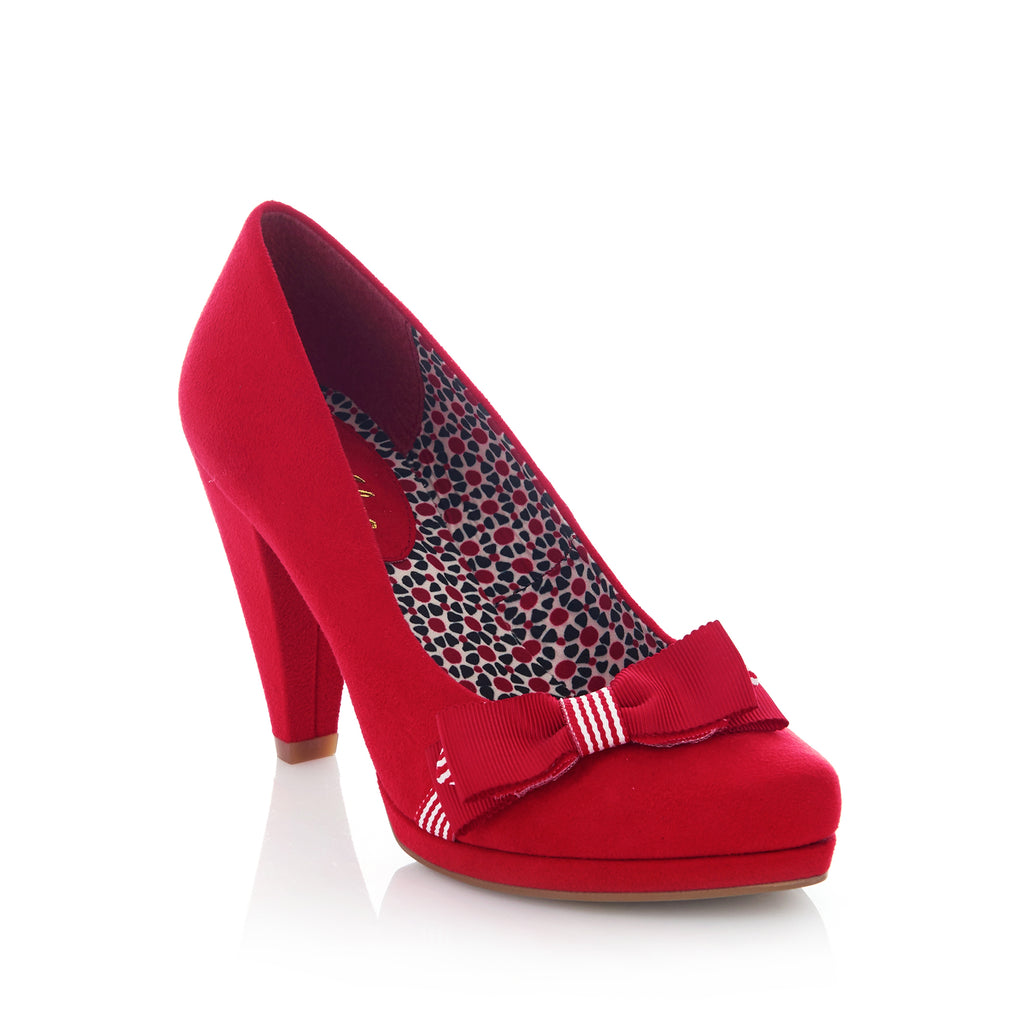 SUSANNA 09181 RUBY SHOO-Ladies-RUBY SHOO-RED-38 = 5UK-Logues Shoes