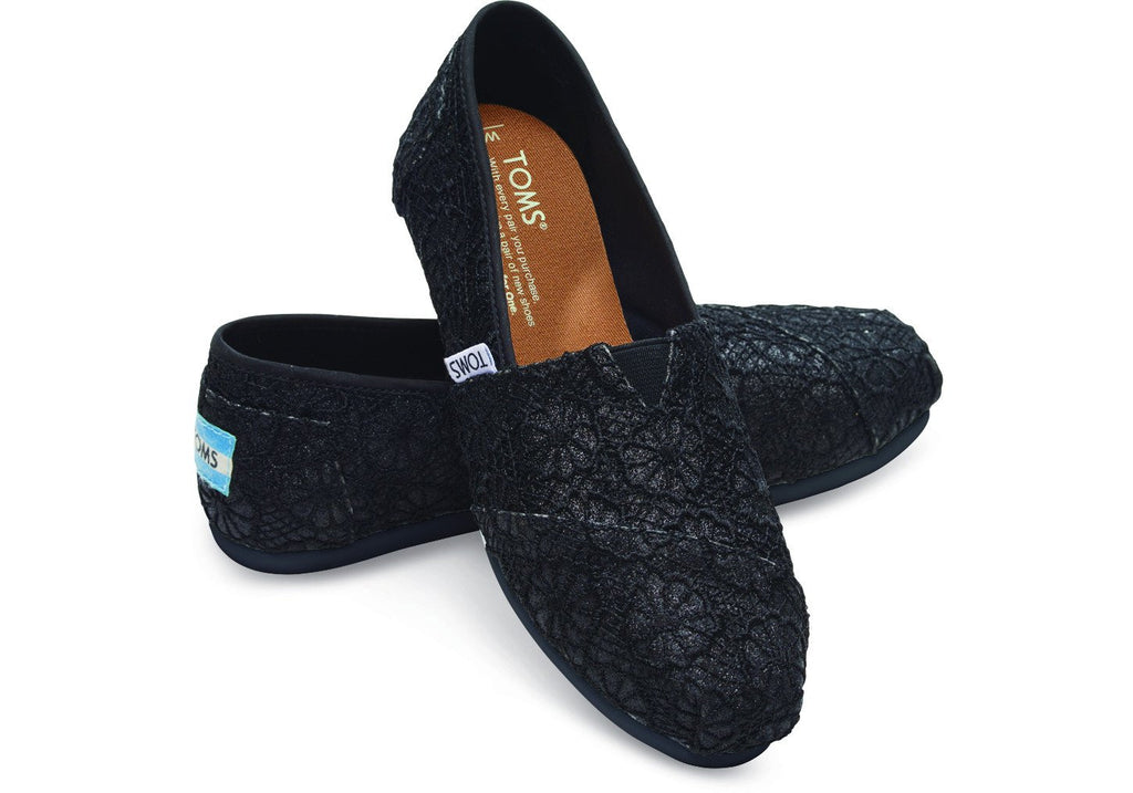 10009295 ALAVONLadiesLogues ShoesBLACK CROCHET / 4 UK = 6 US