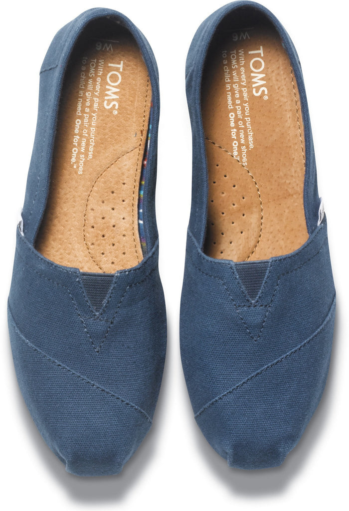 10009758 ALP ESPLadiesLogues ShoesNAVY WASHED / 4 UK = 6 US