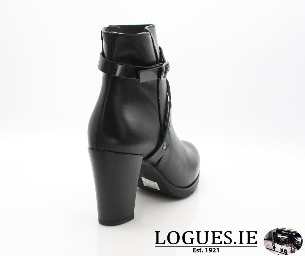 1046 Leana T AW18LadiesLogues ShoesPONCHO NEGRO / 41 = 7/8 UK