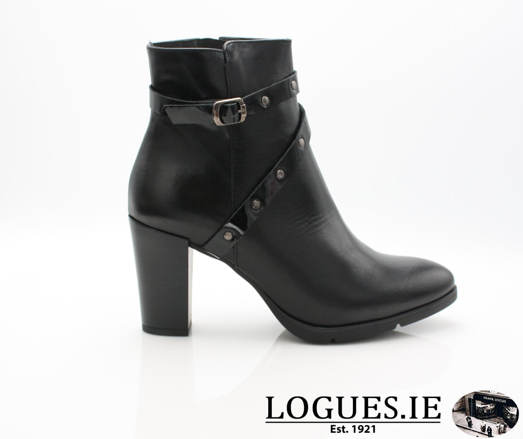 1046 Leana T AW18LadiesLogues ShoesPONCHO NEGRO / 36 = 3 UK
