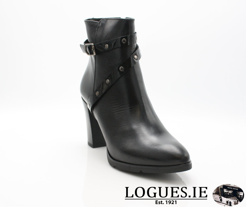 1046 Leana T AW18LadiesLogues ShoesPONCHO NEGRO / 37 = 4 UK