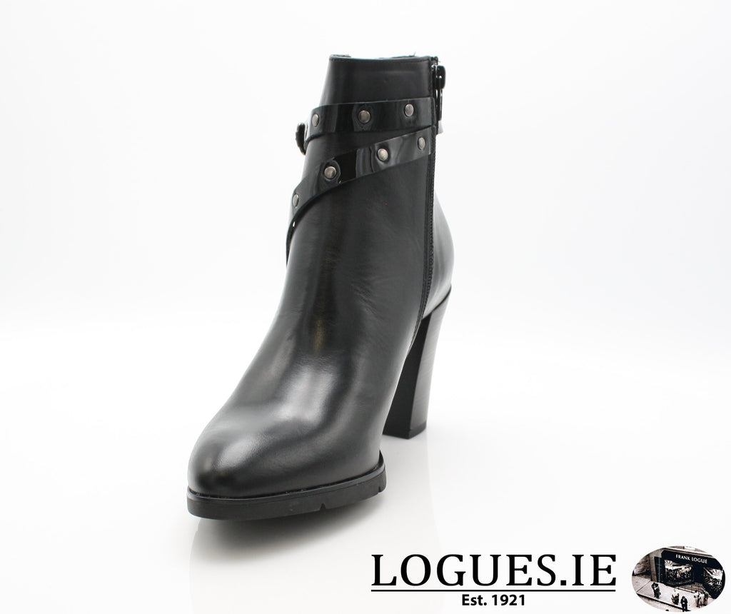 1046 Leana T AW18LadiesLogues ShoesPONCHO NEGRO / 38 = 5UK