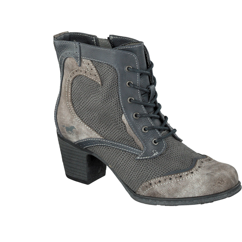 1258501 MUSTANG A/W 17LadiesLogues ShoesNAVY/GREY 869 / 43 = 9 UK
