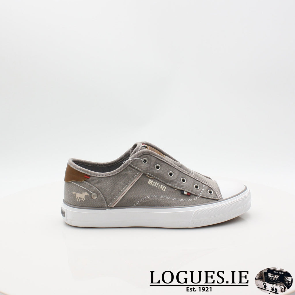 1272401 MUSTANG S19LadiesLogues ShoesGRAV / 4 UK -37 EU - 6 US