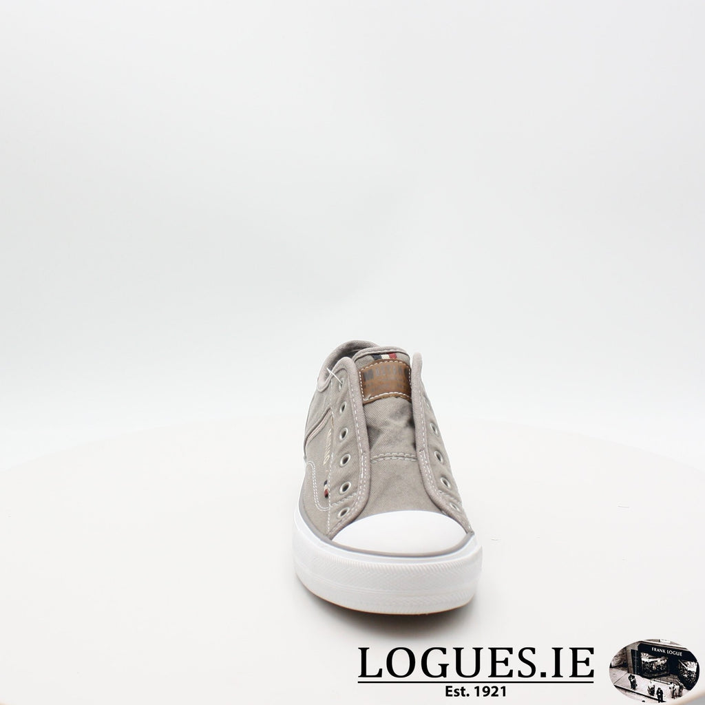 1272401 MUSTANG S19LadiesLogues ShoesGRAV / 5 UK- 38 EU- 7 US