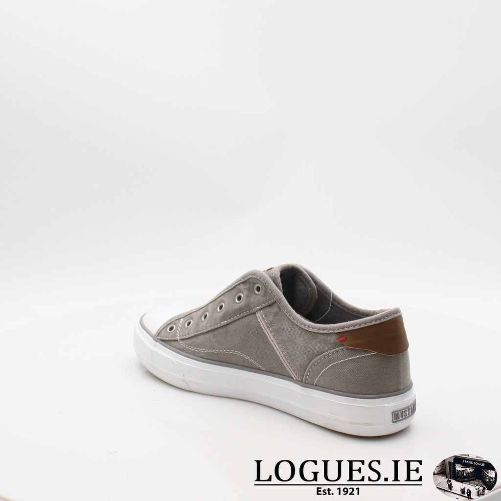 1272401 MUSTANG S19LadiesLogues ShoesGRAV / 6.5 UK - 40 EU -8.5 US
