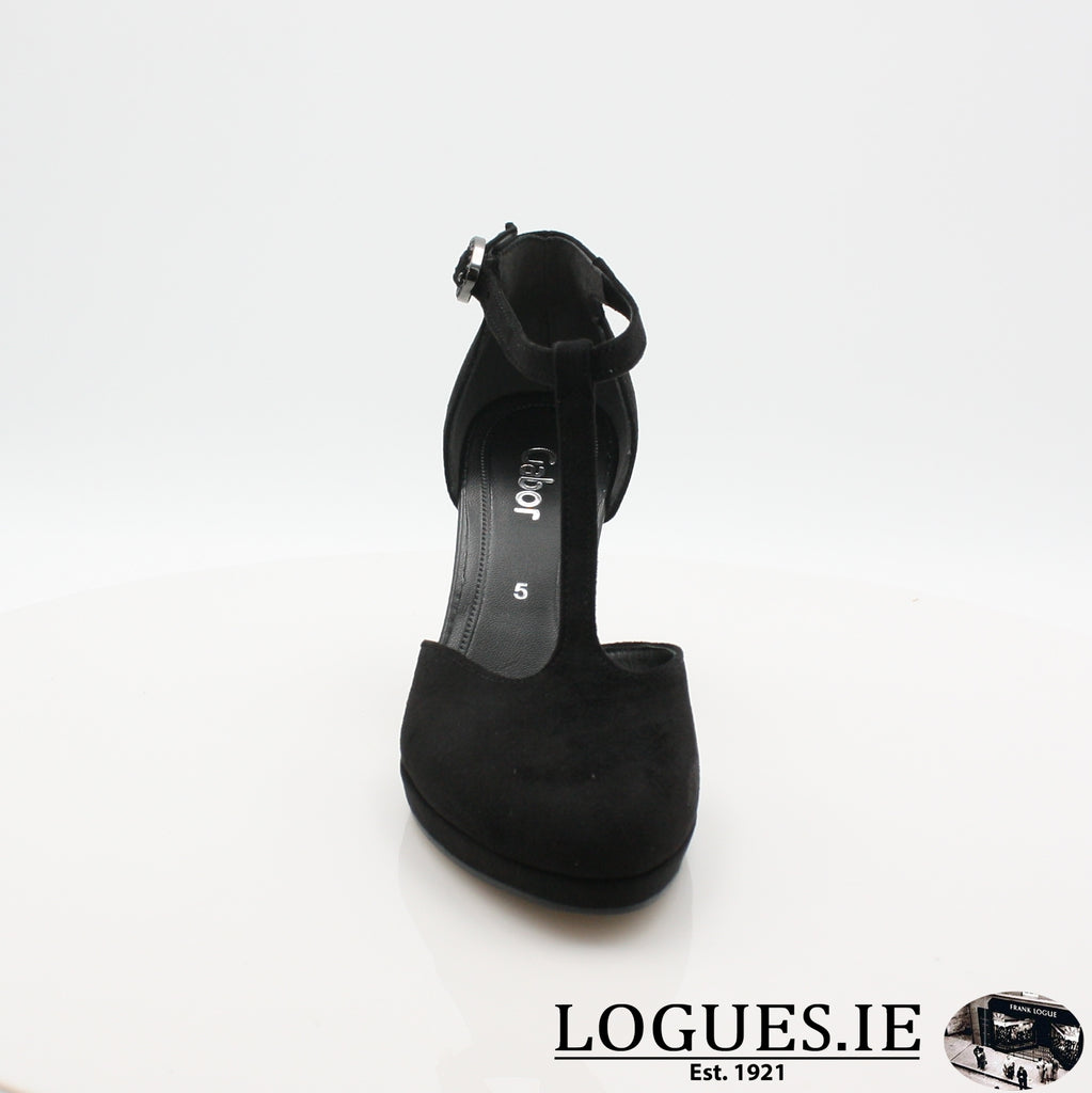 21.371 GABOR SS19LadiesLogues Shoes47 Schwarz / 5