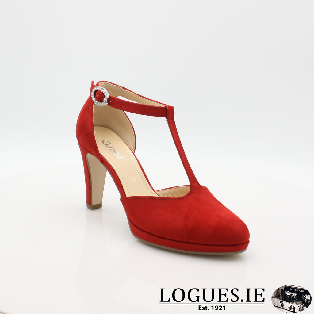 21.371 GABOR SS19LadiesLogues Shoes45 Cherry / 4