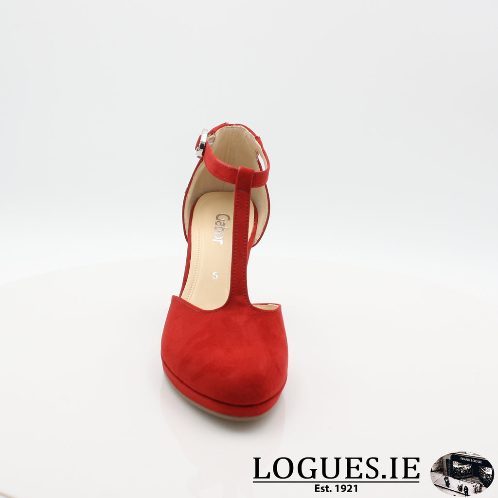 21.371 GABOR SS19LadiesLogues Shoes45 Cherry / 4½