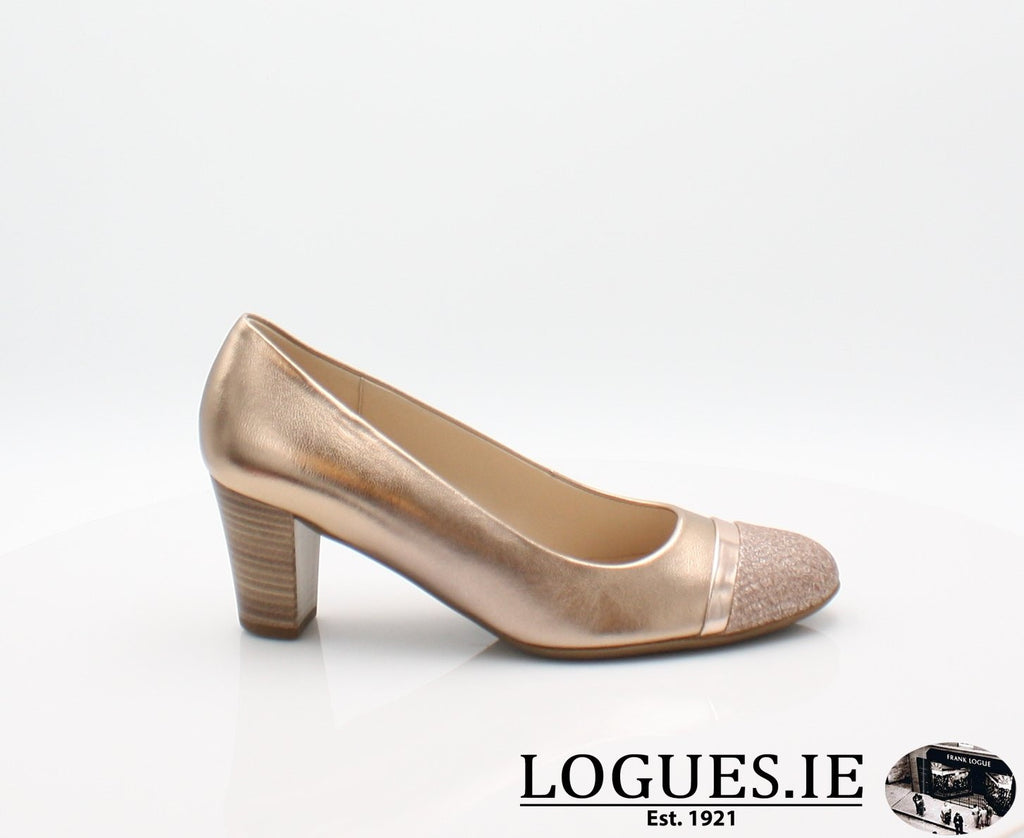 22.162 GABOR SS19LadiesLogues Shoes94 Rame/Engl.Rose / 7½